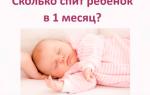 Сколько должен спать месячный ребенок в сутки