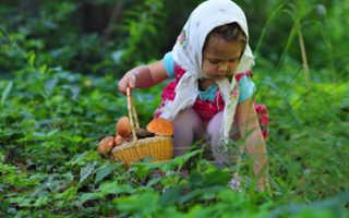 С какого возраста можно грибы детям